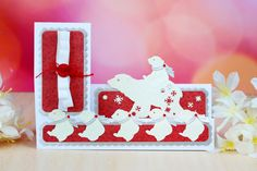 Detailed and delicate, Tattered Lace Dies are the most intricate dies available. This topper die gives you the perfect finishing touch to all of your projects. These dies measure approx: Polar Bears: x Scarf: x Christmas Animals, Christmas Tag, Little Monsters, Xmas Cards, Die Cutting, Paper Crafts, Delicate, Lace, Polar Bears