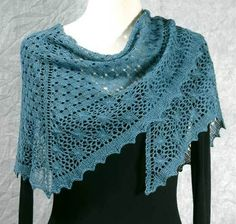 Fiddlesticks Knitting--Dorothy Siemens--Dewdrops Shawl
