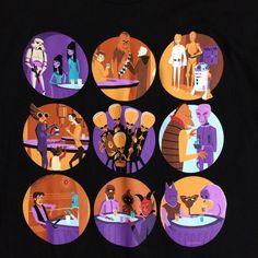 Disney Shag Star Wars Cantina Wretched Hive Hans R2D2 CP30 Storm Tshirt XL   eBay