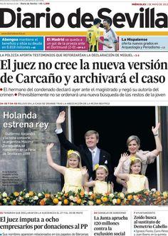Los Titulares y Portadas de Noticias Destacadas Españolas del 1 de Mayo de 2013 del Diario de Sevilla ¿Que le parecio esta Portada de este Diario Español?