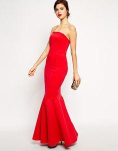 2b4eec314d1 Asos Red Carpet Origami Bow Maxi Dress in Natural
