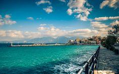 Agios Nikolaos - Crete - Greece  Port view from the coastline.