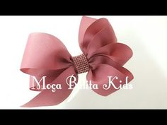 YouTube Ribbon Hair Bows, Diy Hair Bows, Diy Bow, Diy Ribbon, Ribbon Crafts, Cute Headbands, How To Make Ribbon, Kanzashi Flowers, Bow Tutorial