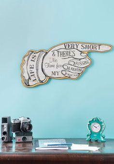 Boys' Room  Work It Outside Sign, #ModCloth