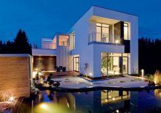 Fachadas de casas modernas   Fotos de frentes de casas minimalistas