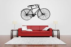 Wall Room Decor Art Vinyl Sticker Mural Decal Antique Vintage Bicycle Bike Big Large AS640