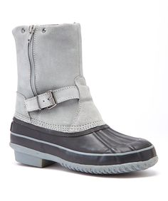 Look at this ARCTIC PLUNGE Gray & Black Randi Suede Boot on #zulily today!