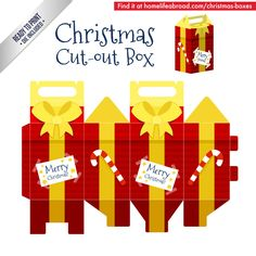 Christmas Gift Cut Out Box