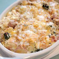 Bacon and Potato Breakfast Strata Recipe from our friends at Philadelphia Cream Cheese