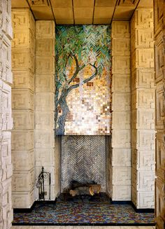 Frank Lloyd Wright's Ennis House. Tile galore!