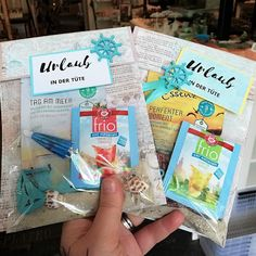 Make a holiday in a bag DIY Dresdner food Friotee bird sand shells Diy Projects For Kids, Diy For Kids, Washi, Paper Umbrellas, Mussels, You Are The Father, Dresden, Kids Furniture, Stampin Up