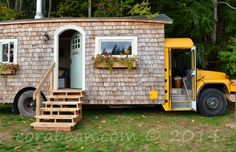 School Bus House - Unique Tiny Homes - Country Living