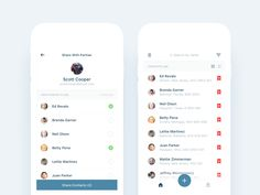 Law Enforcement Contacts - List Views designed by Nimasha Perera. Connect with them on Dribbble; Page Design, Web Design, Design Blogs, Contact List, Mobile Ui Design, Ui Web, Material Design, Law Enforcement, Names