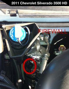 2011 Chevrolet Silverado 3500 - Low Side Port for A/C Recharge #acprocold #acpro #r134a #refrigerant - www.acprocold.com