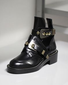 The Ceinture Ankle Boot by Balenciaga. Punk Spirit High Derby Shoes  Inspired By 11e1a45316dc
