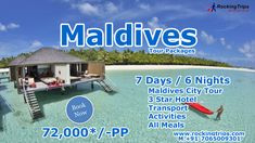 Maldives Honeymoon Package, Maldives Packages, Maldives Tour Package, Transportation, Tours, India, Meals, Activities, Star