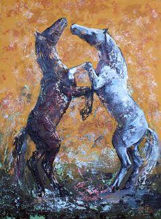 "Saatchi Art Artist Alla Dzevaltovska; Painting, ""Horses 25"" #art"