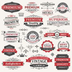 Labels,Frames and Banners Royalty Free Stock Vector Art Illustration