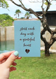 Start each day with a grateful heart. Discover more inspiring quote cards for your Planner or Journal with our Vision Board Kit.