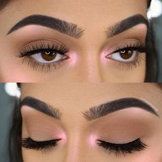 make up Perfection chelsea tiscareno., Wake Up and Make Up, Makeup Eye Looks, Cute Makeup, Glam Makeup, Pretty Makeup, Skin Makeup, Eyeshadow Makeup, Pink Eye Makeup, Makeup Geek, Eyeshadows