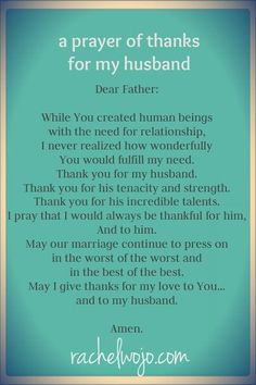 I will pray for my husband when God sends him to me