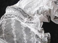 Precious Handmade Victorian Normandy Lace Whitework Bed Jacket S87 | eBay