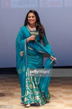 Indian actress Rani Mukerji attends an afterscreening event of film 'Hichki' on October 8 2018 in Beijing China Pakistani Fashion Casual, Pakistani Dress Design, Pakistani Dresses, Party Wear Lehenga, Party Wear Dresses, Kurti Designs Party Wear, Kurta Designs, Stylish Kurtis Design, Simple Indian Suits