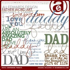 Father Word Art Brushes and Stamps- Ali Edwards Brushes- DS304571- DesignerDigitals