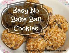 Easy no bake cookie balls