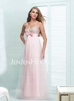 Evening Dresses -= - Graceful A-Line/Princess Sweetheart Floor-Length Satin Tulle Evening Dresses With Ruffle Sash Beading (017004348) http://jenjenhouse.com/A-line-Princess-Sweetheart-Floor-length-Satin-Tulle-Evening-Dresses-With-Ruffle-Sash-Beading-017004348-g4348