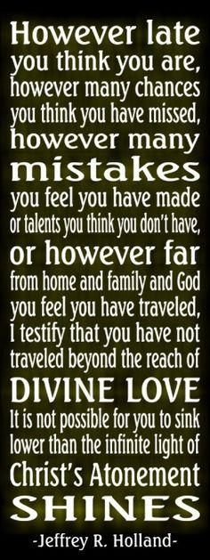 -Jeffrey R. Holland. Love of Jesus Christ by Hasenfeffer