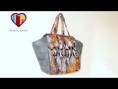 Bolsa sacola em tecidos Érika - Maria Adna Ateliê - Cursos e aulas de bolsas em tecidos e couro - YouTube