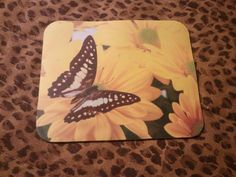 SOLD and RELISTED!  Redesigned ... all mouse pads now have no white borders!  Mouse Pad  Butterfly by WildlandCreations on Etsy, $6.50