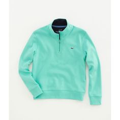Boys Pullovers: 1/4 Zip Pullover Jersey for Boys – Vineyard Vines ($55) ❤ liked on Polyvore featuring sweaters and sweatshirts