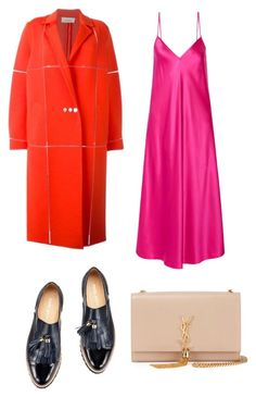 """Untitled #1219"" by filipaloves ❤ liked on Polyvore featuring Courrèges, E L L E R Y and Yves Saint Laurent"