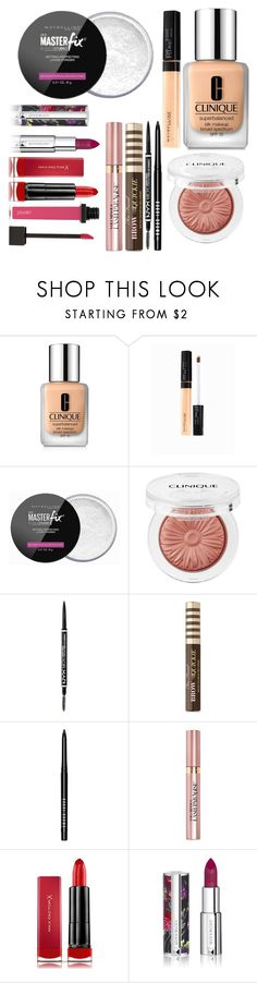 """""""Allison Inspired Beauty Products: Look 1 - Teen Wolf"""" by clawsandclothes ❤ liked on Polyvore featuring Clinique, Maybelline, NYX, Too Faced Cosmetics, Bobbi Brown Cosmetics, L'Oréal Paris, Max Factor and Givenchy"""