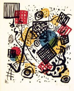 Painter Wassily Kandinsky. Painting. Kleine Welten V (Small Worlds V), from the series Kleine Welten (Small Worlds). 1922 year