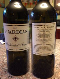 Guardian Cellars - 2012 Confidential Source Merlot. So rich and smokey. Oh baby!