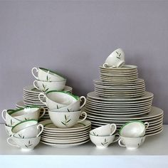 Porcelain Dinnerware Set Eight 9 Piece Place Settings Vintage Franciscan China Westwood Mid Century Housewares Dining Home Decor Serving