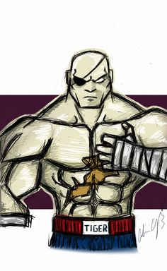 A WICKED #sketch of the man #sagat from the #Streetfighter series. This one was REALLY FUN to do... http://mydesignisred.com/ #drawing #sketching #illustration #capcom #gaming #manga #anime #comics #samsung #galaxytab #google #android #tablet #mydesignisRED