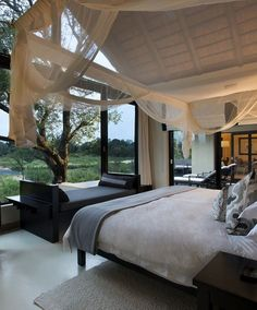 The Luxury Resort Where You'll See Elephants Without Leaving Your Room The Lion Sands Game Reserve was recently named one of the best resorts and safari camps in Africa by Condé Nast Traveler& readers, and it& e. Bungalows, Best Interior, Interior Design, Sand Game, Lodge Decor, Game Reserve, Suites, Home Living, Decoration