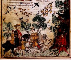 Hunting Party with birds. detail. Italy, Genoa. c. 1330-40. Egerton 3127 BL | Flickr - Photo Sharing!