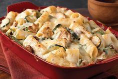 MADE-zucchini—and spinach—creamy rigatoni pasta dish. used yogurt instead of the cream cheese