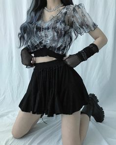 Tall Fashion Tips .Tall Fashion Tips Egirl Fashion, Korean Girl Fashion, Ulzzang Fashion, Kpop Fashion Outfits, Girls Fashion Clothes, Stage Outfits, Edgy Outfits, Korean Outfits, Cute Casual Outfits
