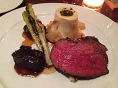 With braised short rib, sunchokes, grilled romaine, bone marrow bordelaise.