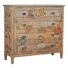 Sea Life Painted Chest