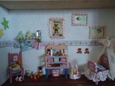 Kijkkastje voor Jan Smit gemaakt  bij de geboorte van Emma.Gegeven in November aan Jan.