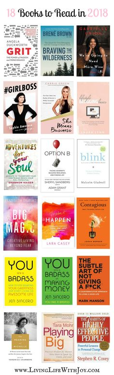 18 Books to Read in 2018 - Living Life With Joy
