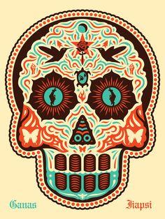 Yaqui Dia De Los Muertos - OBEY GIANT