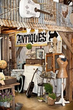 Beautifully Primitive Antique Booth Display